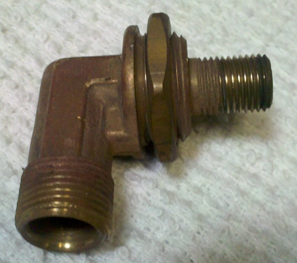 Gas orifice elbow connector